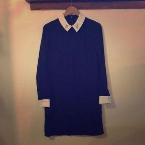 Victoria Beckham Black Rabbit Lapin Dress S